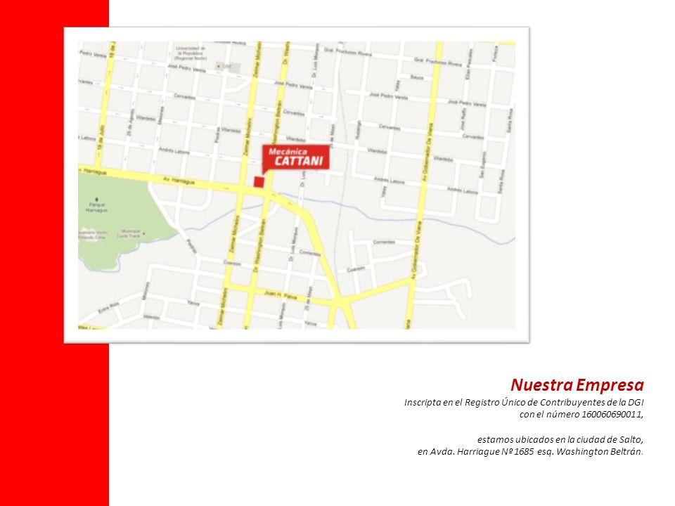 Nuestra Empresa Inscripta en el Registro Único de Contribuyentes de la DGI con el número 160060690011, estamos ubicados en la ciudad de Salto, en Avda.