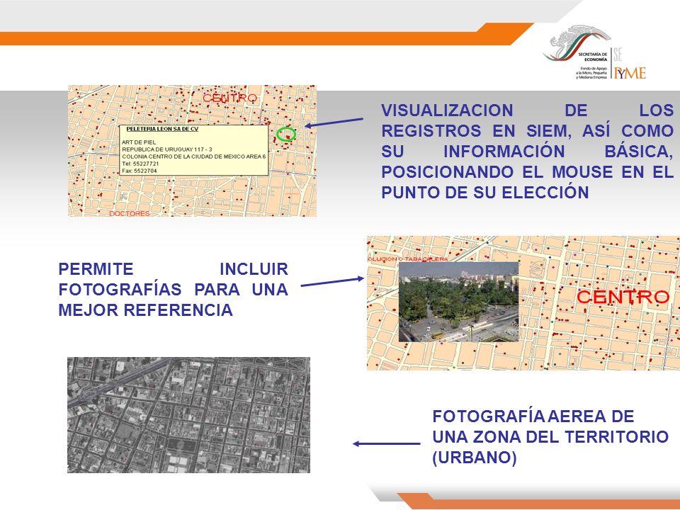 VISUALIZACION DE LOS REGISTROS EN SIEM, ASÍ COMO SU INFORMACIÓN BÁSICA, POSICIONANDO EL MOUSE EN EL PUNTO DE SU ELECCIÓN PERMITE INCLUIR FOTOGRAFÍAS PARA UNA MEJOR REFERENCIA FOTOGRAFÍA AEREA DE UNA ZONA DEL TERRITORIO (URBANO)