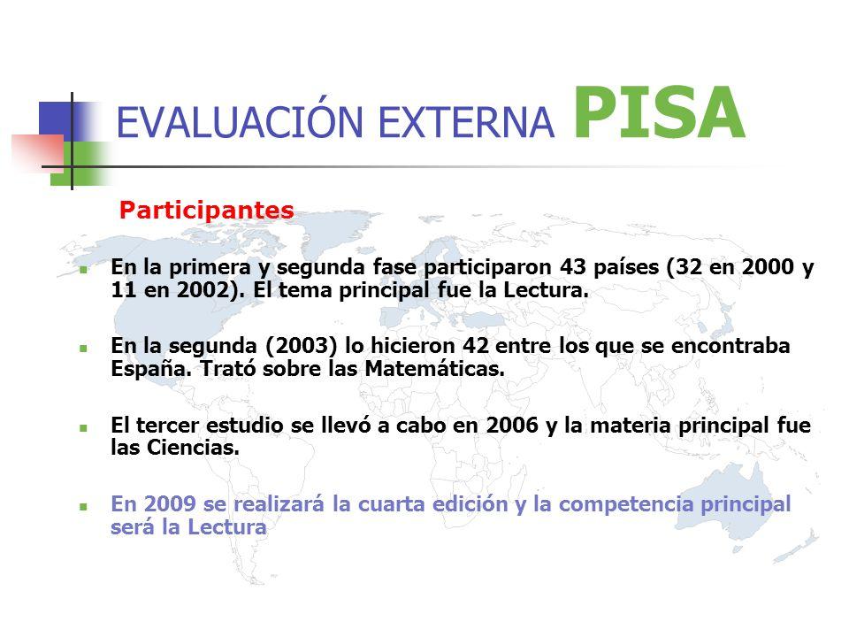 Participantes En la primera y segunda fase participaron 43 países (32 en 2000 y 11 en 2002).