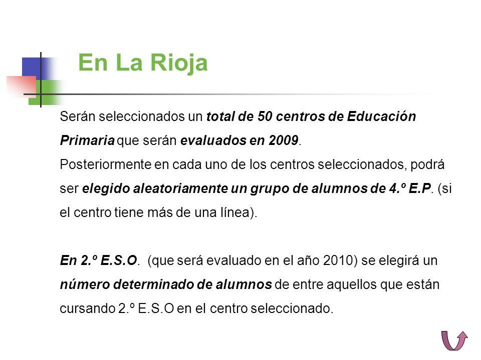 Serán seleccionados un total de 50 centros de Educación Primaria que serán evaluados en 2009.