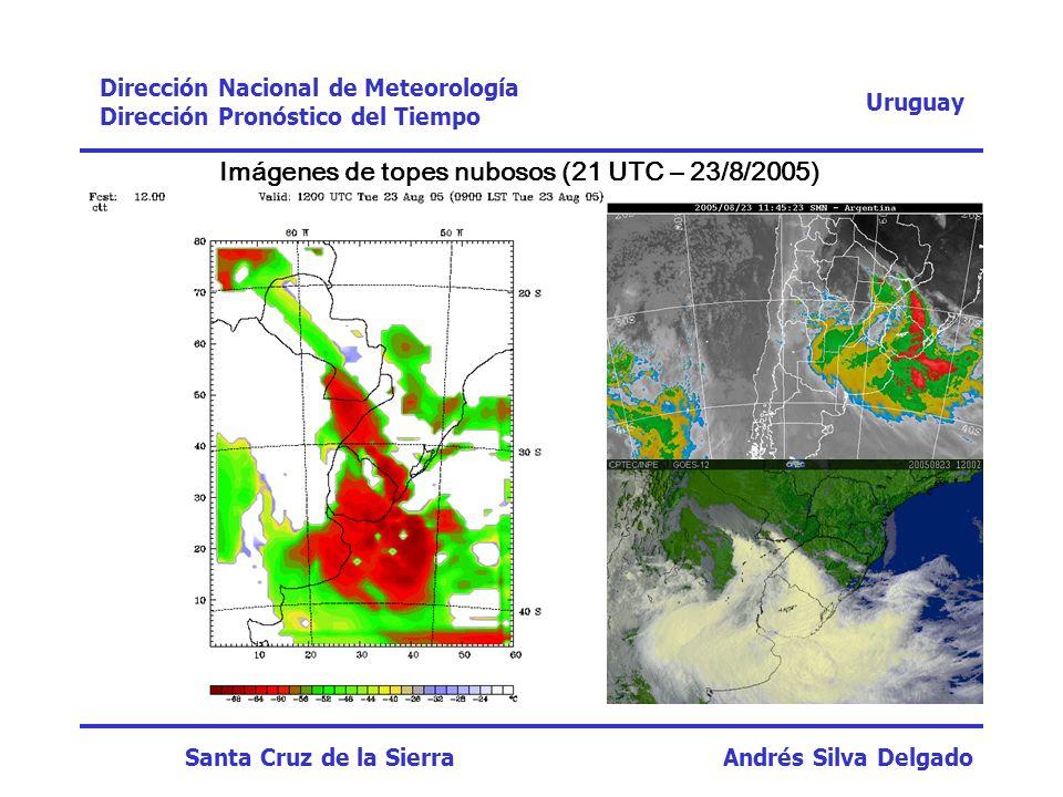Uruguay Dirección Nacional de Meteorología Dirección Pronóstico del Tiempo Santa Cruz de la Sierra Andrés Silva Delgado Imágenes de topes nubosos (21