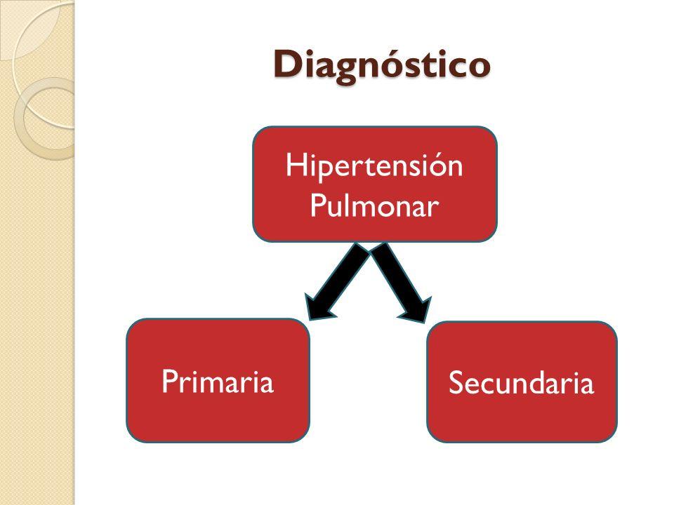 Diagnóstico Hipertensión Pulmonar Primaria Secundaria