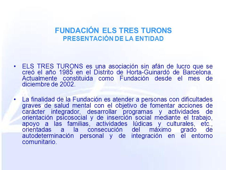 ELS TRES TURONS es una asociación sin afán de lucro que se creó el año 1985 en el Distrito de Horta-Guinardó de Barcelona. Actualmente constituida com