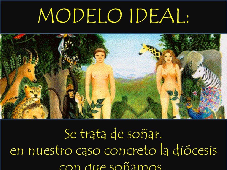 MODELO IDEAL: Se trata de soñar. en nuestro caso concreto la diócesis con que soñamos.