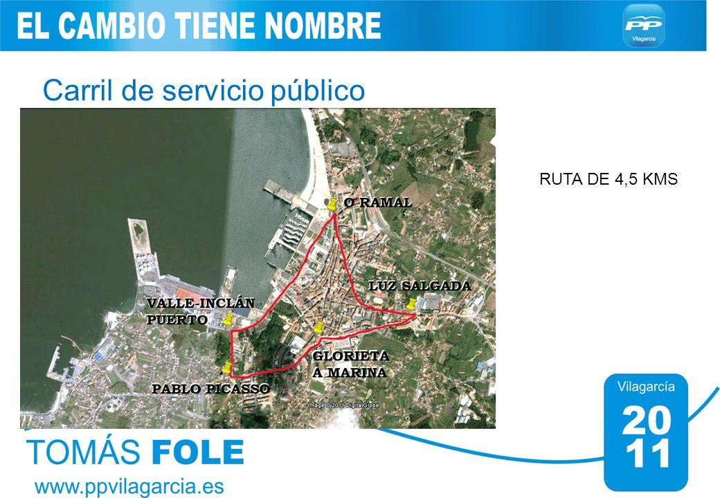 Carril de servicio público RUTA DE 4,5 KMS