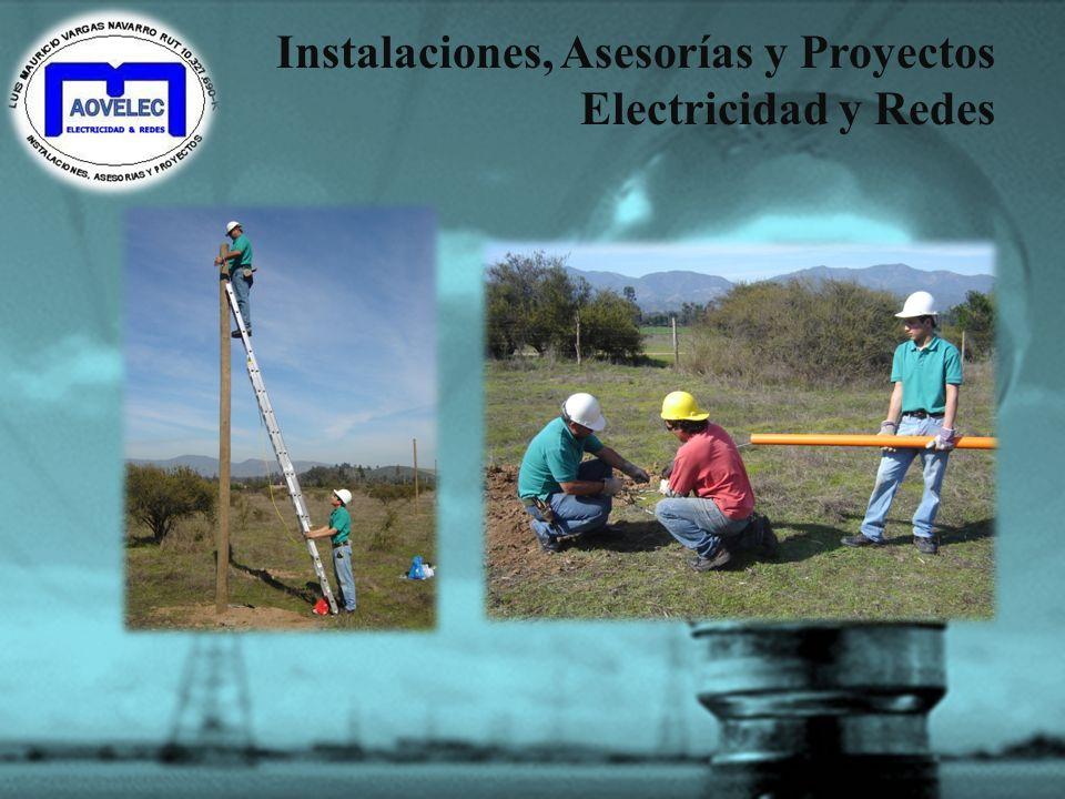 Instalaciones, Asesorías y Proyectos Electricidad y Redes Profesionales colaboradores: MARCOS SEGOVIA ARQUITECTO F- 09 9318 8353 032-2110330 GABRIEL M