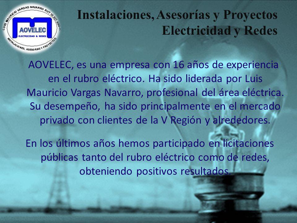 Instalaciones, Asesorías y Proyectos Electricidad y Redes -Presentamos Nuestra Empresa- Luis M. Vargas Navarro SEC Autorizado