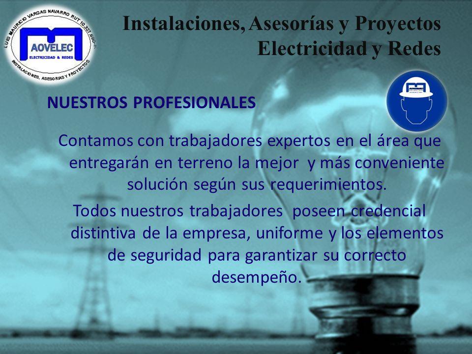 Instalaciones, Asesorías y Proyectos Electricidad y Redes – Estudios para escoger la mejor tarifa. – Estudios de eficiencia energética. – Evaluación d