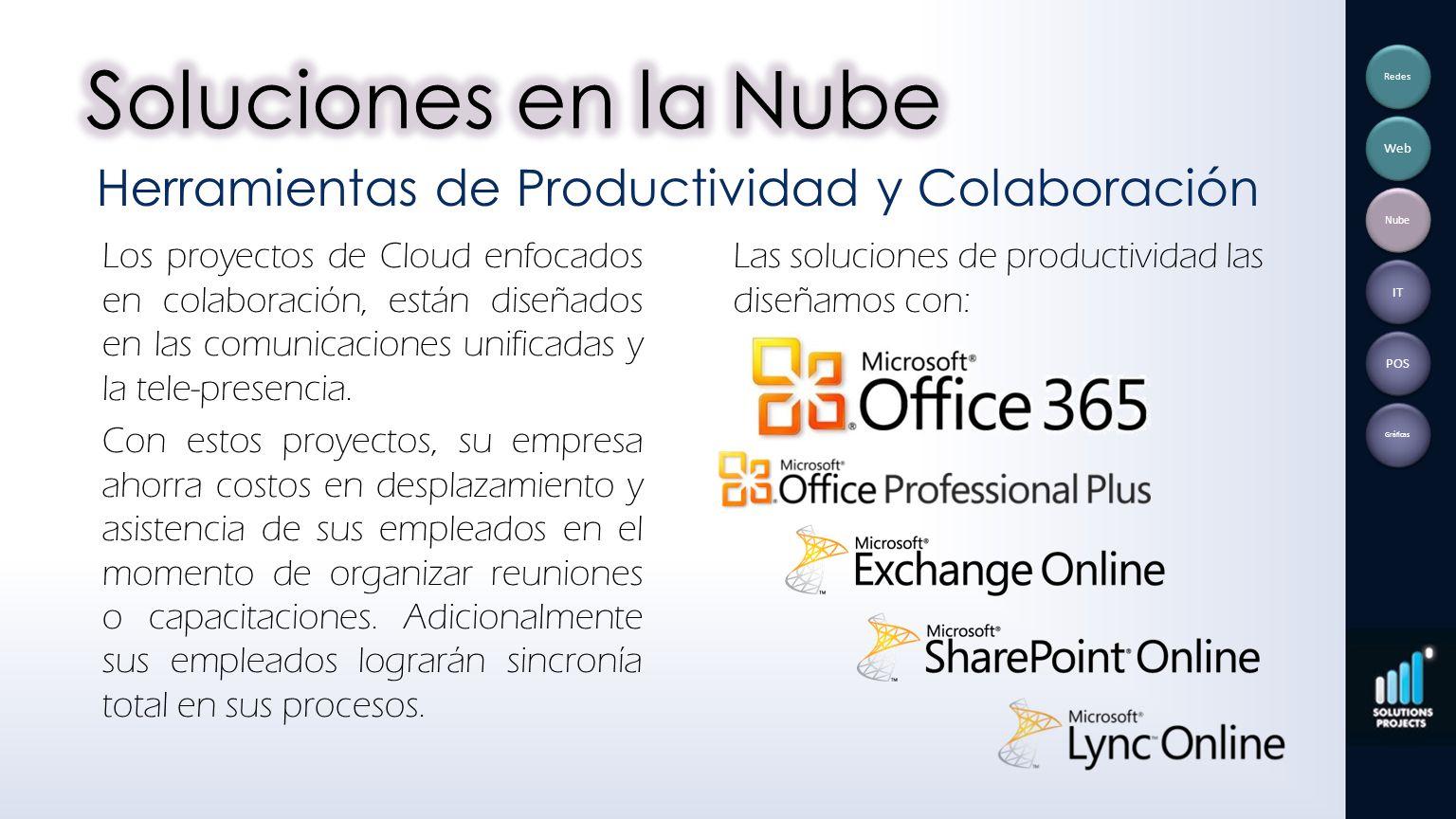 Los proyectos de Cloud enfocados en colaboración, están diseñados en las comunicaciones unificadas y la tele-presencia. Con estos proyectos, su empres
