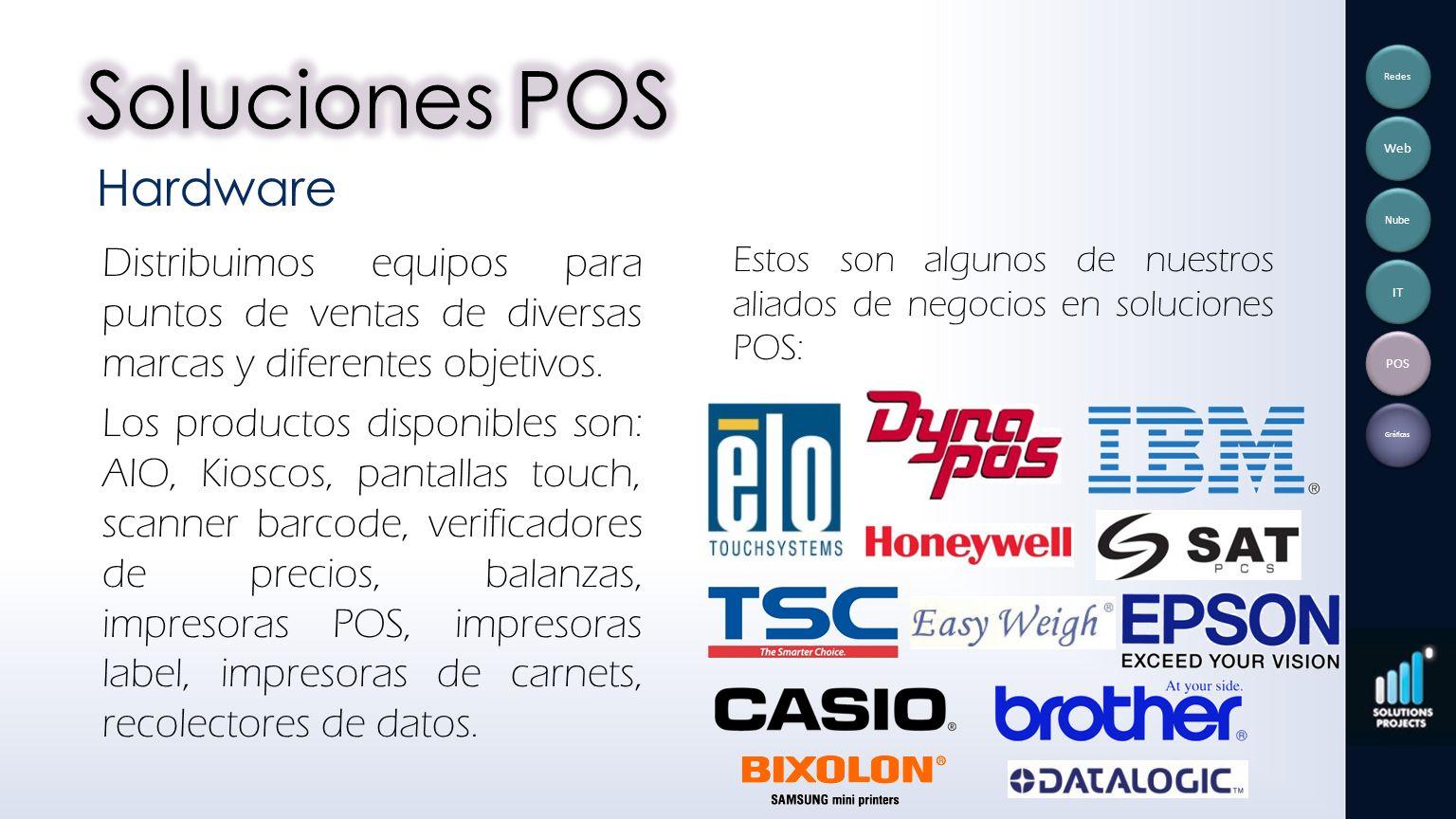 Distribuimos equipos para puntos de ventas de diversas marcas y diferentes objetivos. Los productos disponibles son: AIO, Kioscos, pantallas touch, sc