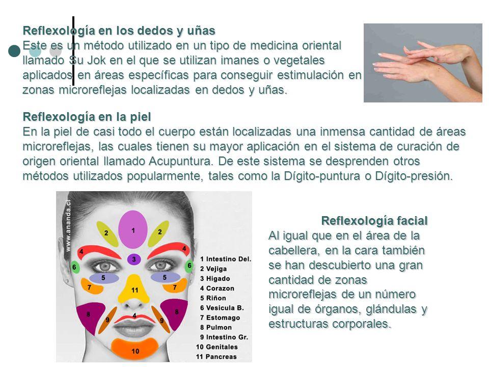 Reflexología en los dedos y uñas Este es un método utilizado en un tipo de medicina oriental llamado Su Jok en el que se utilizan imanes o vegetales a