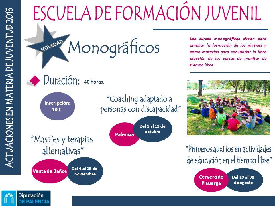 Palencia Del 1 al 11 de octubre 40 horas.