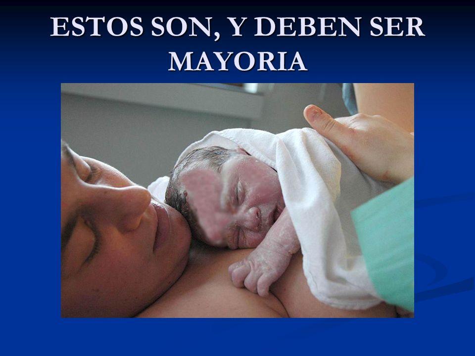 ESTOS SON, Y DEBEN SER MAYORIA