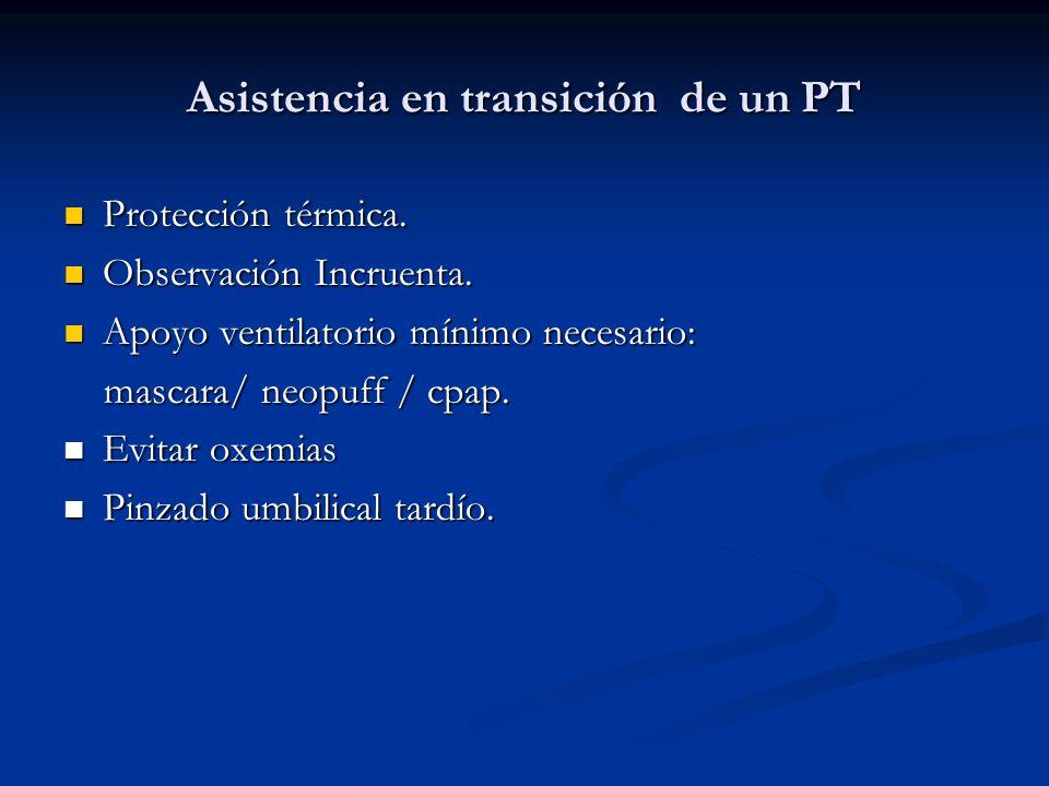 Asistencia en transición de un PT Protección térmica.