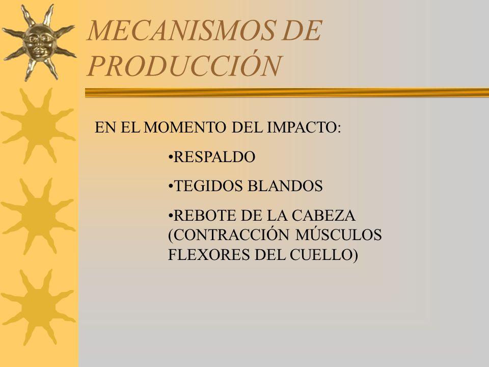 DESCRIPCIÓN DE LAS SECUELAS PUNTUACIÓN –ARTROSIS POSTRAUMÁTICA SIN ANTECEDENTES 5-10 –DESVIACIÓN 5-10 –TORTICOLIS/INFLEXIÓN ANTERIOR 5-10 –RIGIDEZ CERVICAL CON LIMITACIÓN DE MOVIMIENTOS DEROTACIÓN Y DE FLEXO- EXTENSIÓN E INCLINACIÓN 5-15 –ANSIEDAD, IRRITABILIDAD, DEPRESIÓN Y ALTERACIONES DEL SUEÑO (DEBIDO A ALTERACIONES EN EL SISTEMA LÍMBICO).