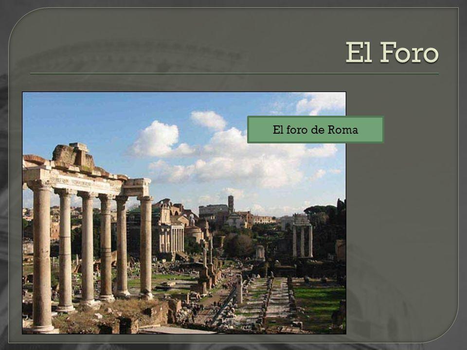 El foro de Roma