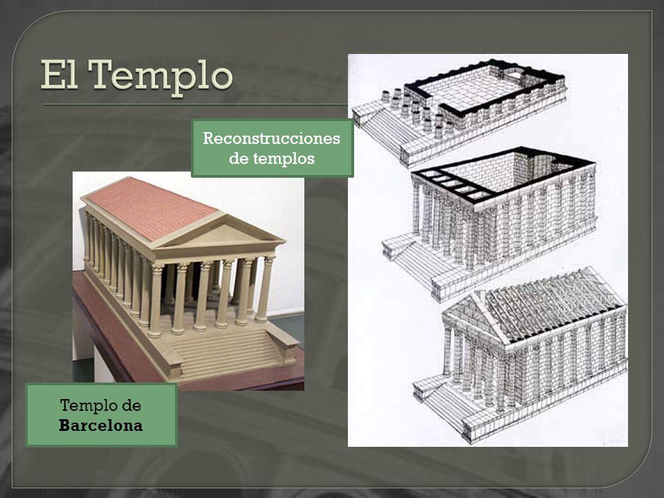 Templo de Barcelona Reconstrucciones de templos