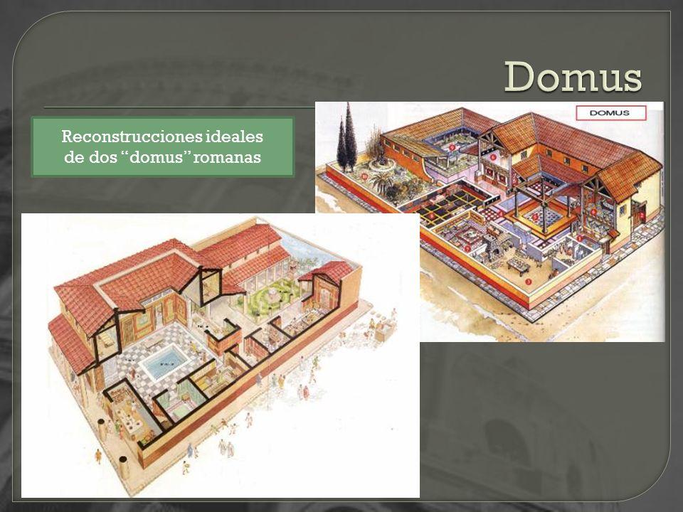 Reconstrucciones ideales de dos domus romanas