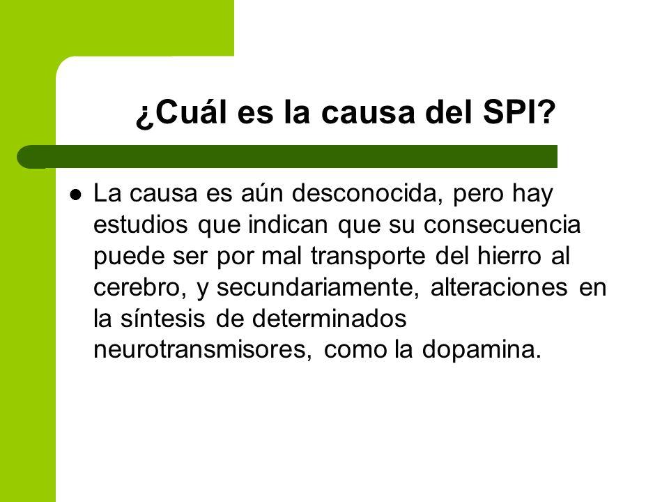 ¿Cuáles son las causas del SPI.