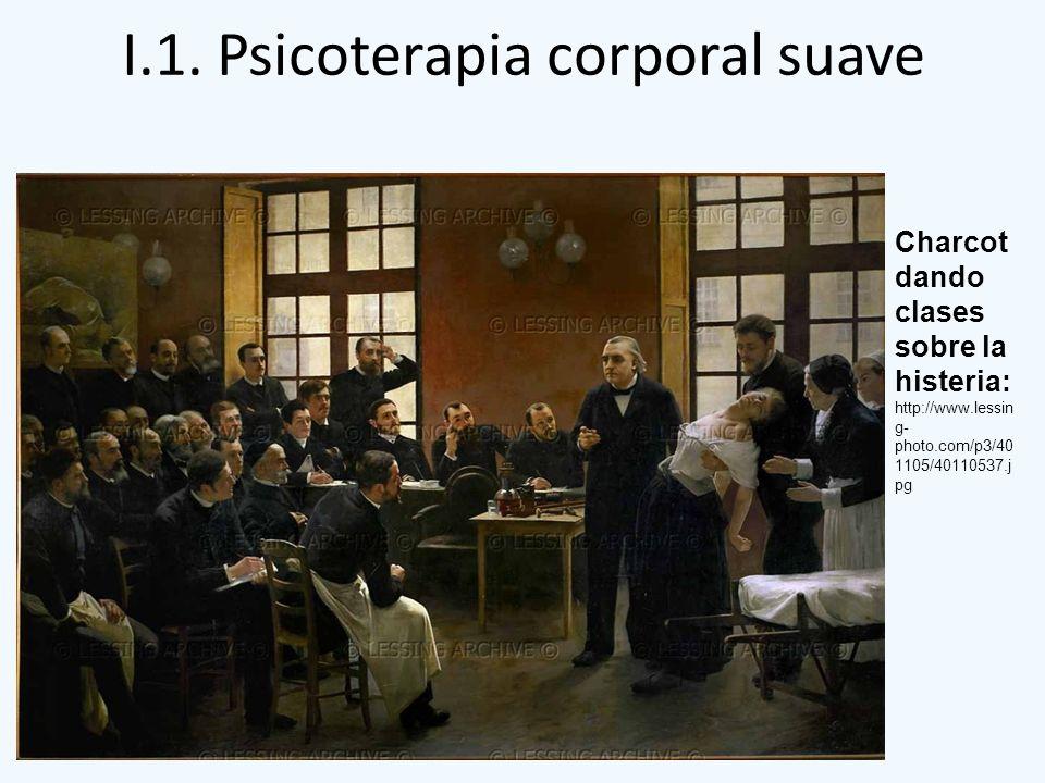 I.1. Psicoterapia corporal suave Charcot dando clases sobre la histeria: http://www.lessin g- photo.com/p3/40 1105/40110537.j pg