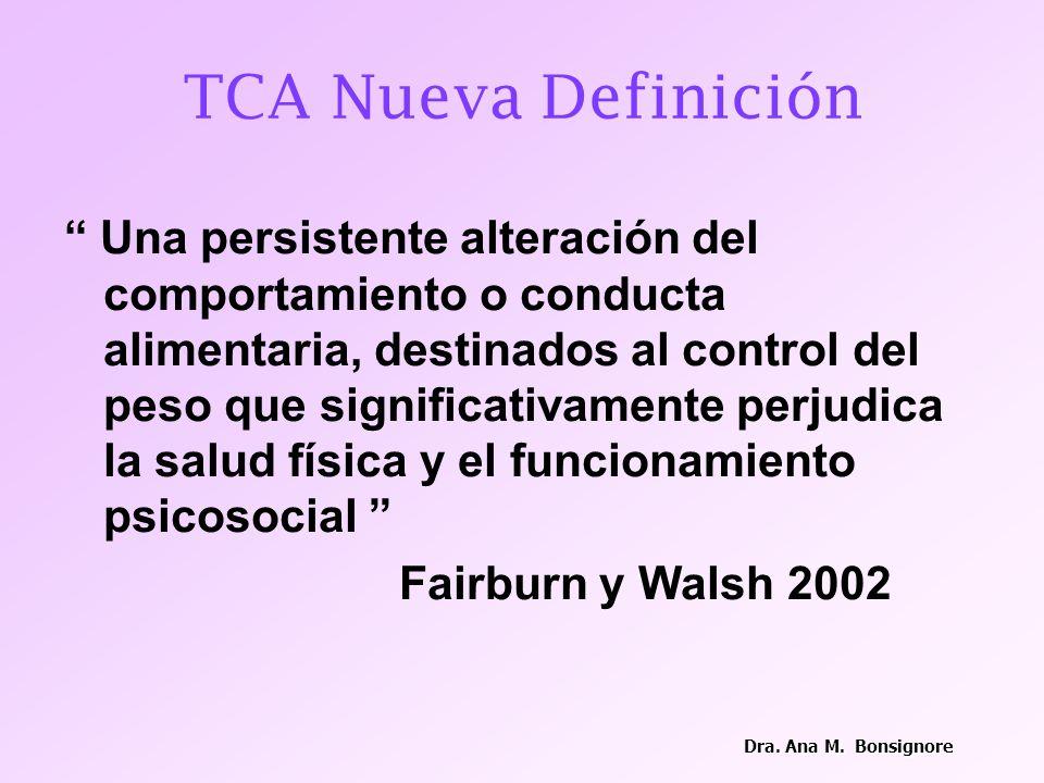 Tratamiento clínico: control clínico soporte nutricional Tratamiento sicológico: individual familiar Psicofármacos Dra.