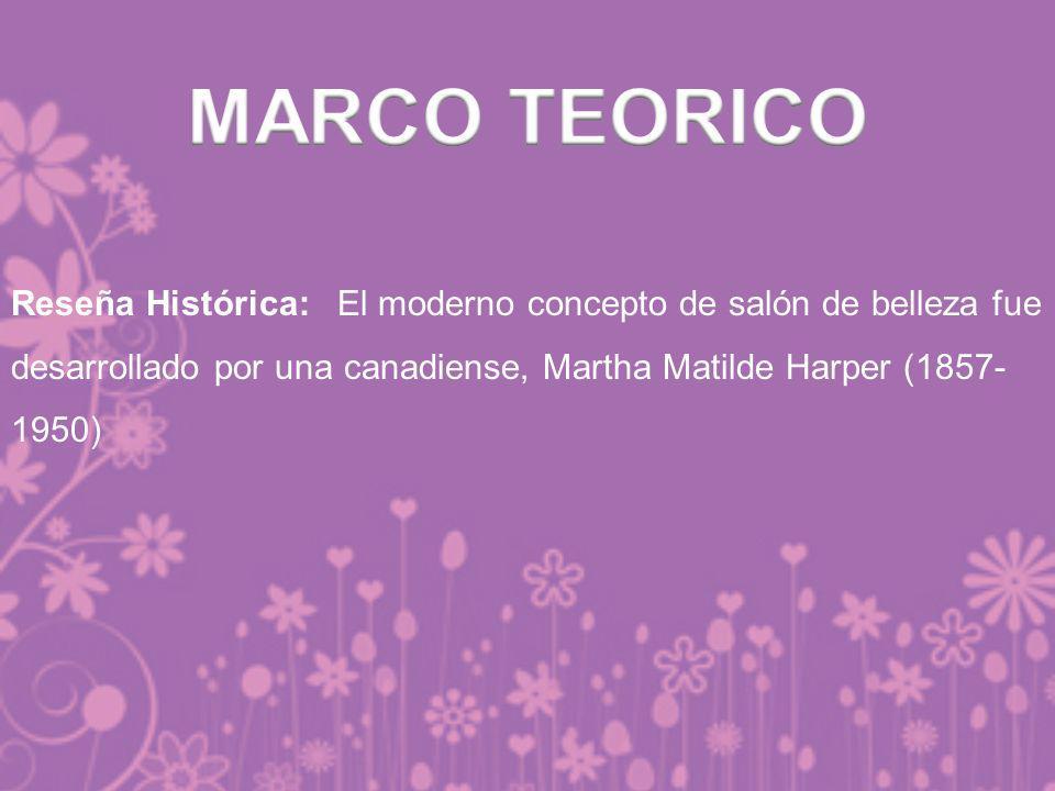 Reseña Histórica: El moderno concepto de salón de belleza fue desarrollado por una canadiense, Martha Matilde Harper (1857- 1950)