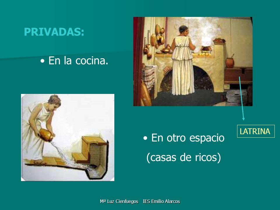 PRIVADAS: En la cocina. En otro espacio (casas de ricos) LATRINA Mª Luz Cienfuegos IES Emilio Alarcos