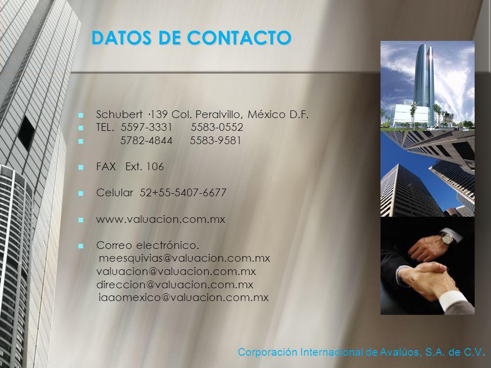 Schubert ·139 Col.Peralvillo, México D.F. TEL. 5597-3331 5583-0552 5782-4844 5583-9581 FAX Ext.