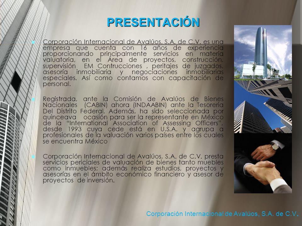 PRESENTACIÓN Corporación Internacional de Avalúos, S.A.