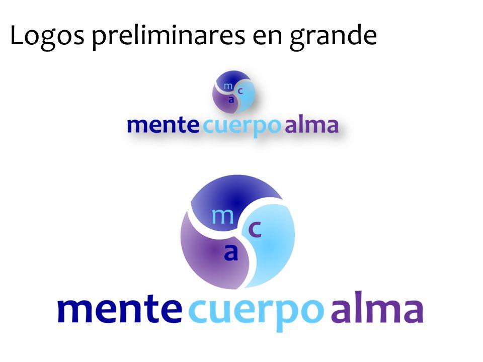 Logos preliminares en grande