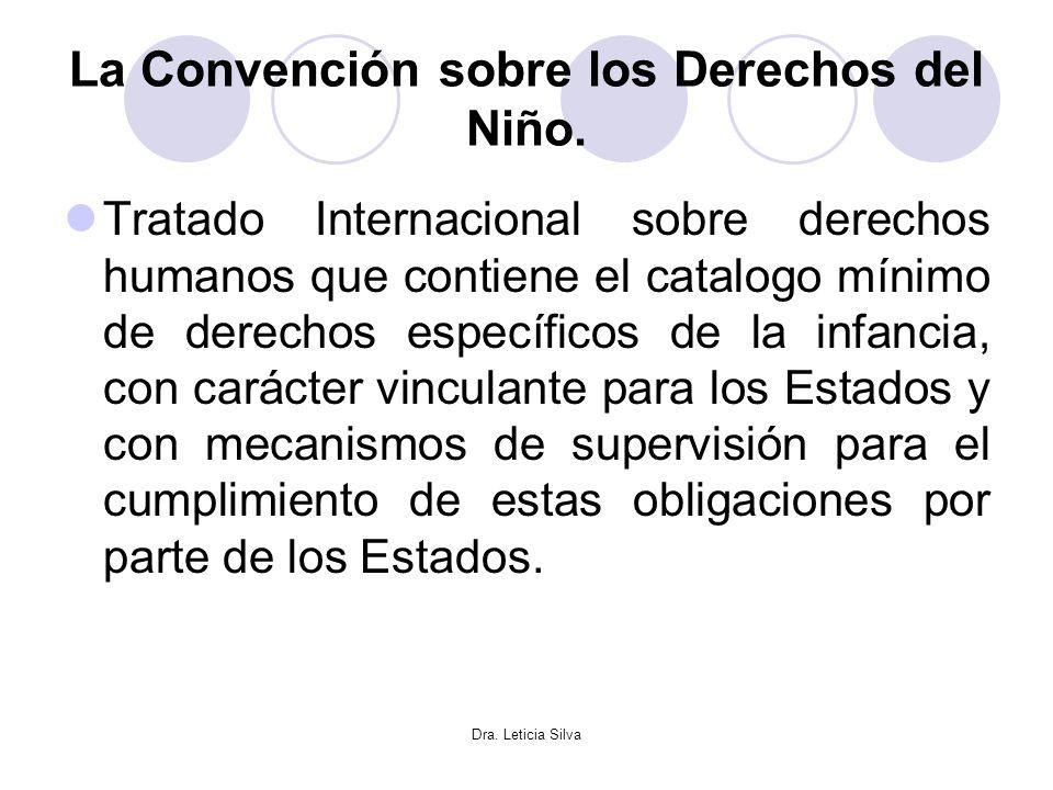 Dra. Leticia Silva La Convención sobre los Derechos del Niño. Tratado Internacional sobre derechos humanos que contiene el catalogo mínimo de derechos