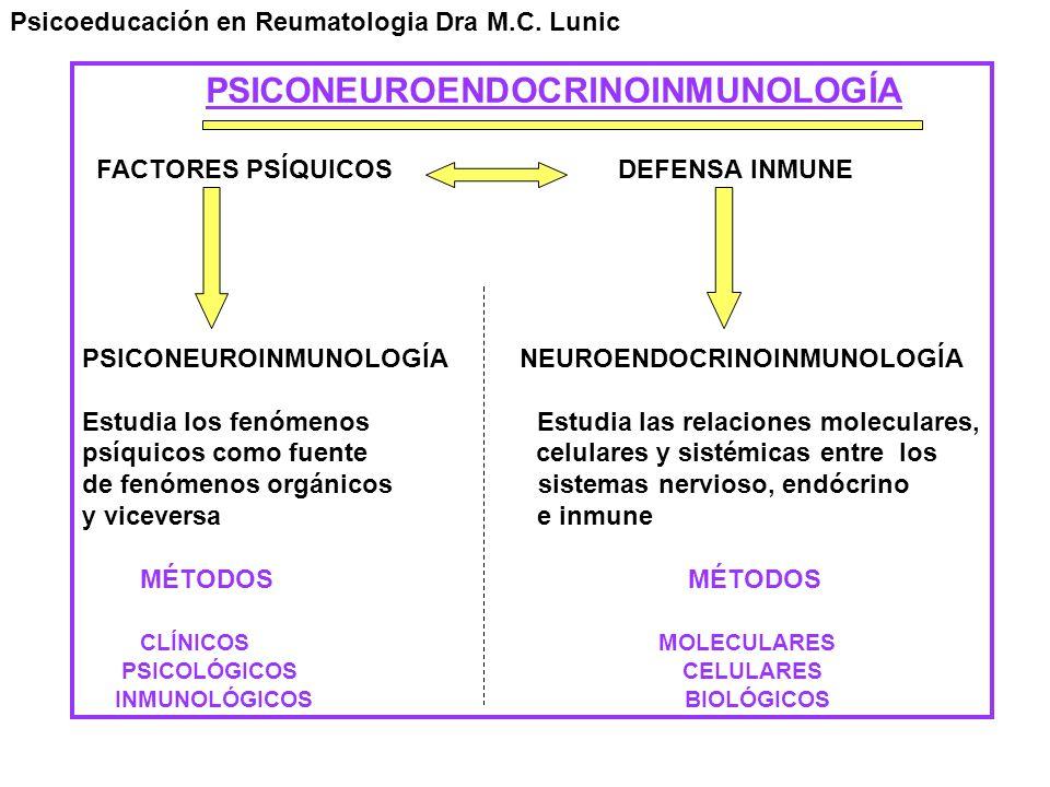 PSICONEUROENDOCRINOINMUNOLOGÍA FACTORES PSÍQUICOS DEFENSA INMUNE PSICONEUROINMUNOLOGÍA NEUROENDOCRINOINMUNOLOGÍA Estudia los fenómenos Estudia las rel