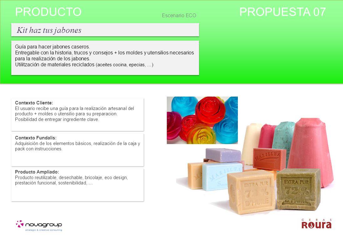 PRODUCTO Escenario ECO Kit haz tus jabones Guía para hacer jabones caseros.