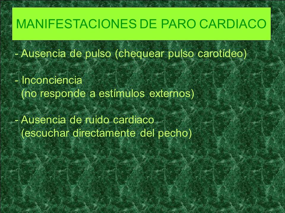PARO RESPIRATORIO Es la interrupción repentina de la respiración y que provoca en forma simultánea o casi de inmediato paro cardiaco, debido a la interacción que existe entre ambos sistemas.
