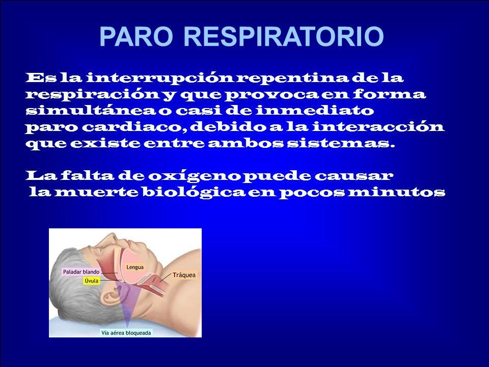 CAUSAS DE PARO RESPIRATORIO - Cuerpos extraños en vías respiratorias.