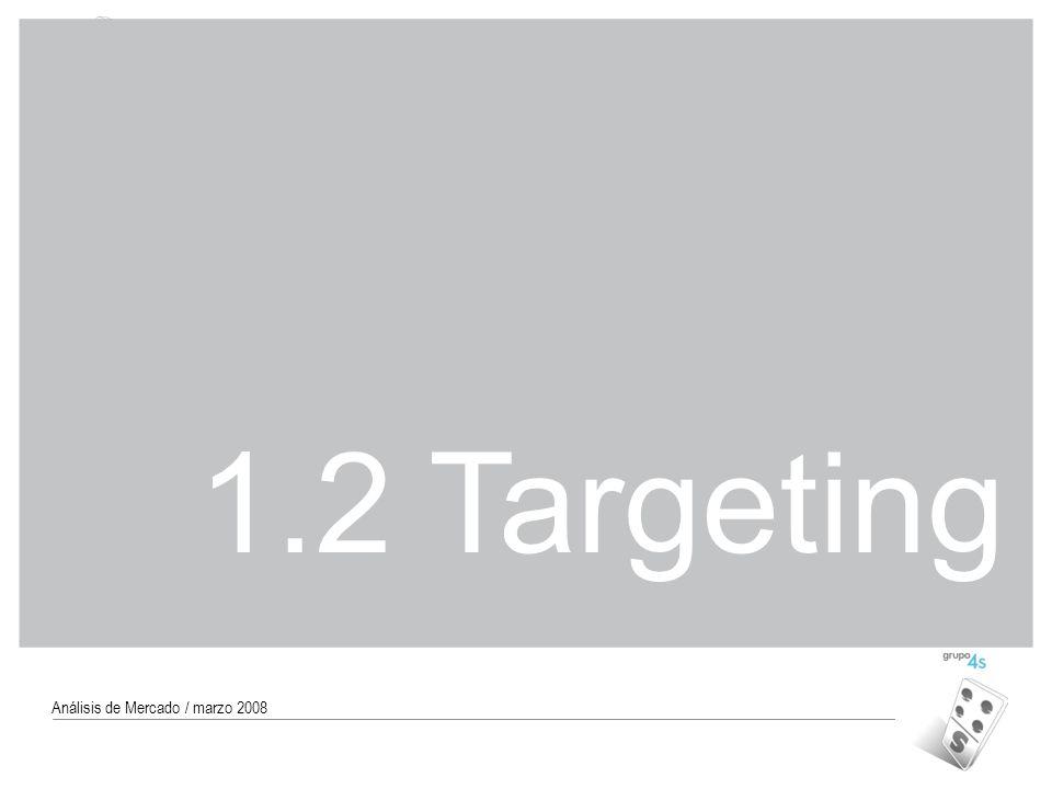 Código MAR-07 23 Análisis de Mercado / marzo 2008 1.2 Targeting