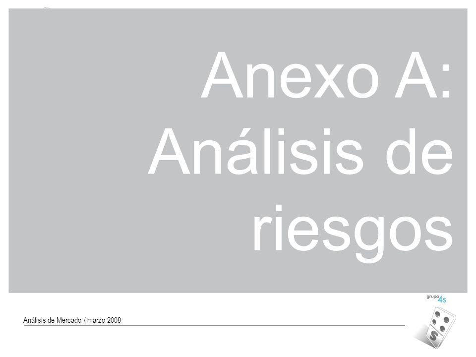 Código MAR-07 38 Análisis de Mercado / marzo 2008 Anexo A: Análisis de riesgos