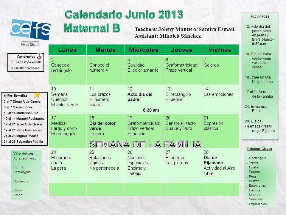 LunesMartesMiércolesJuevesViernes 3 El Rectángulo pág.