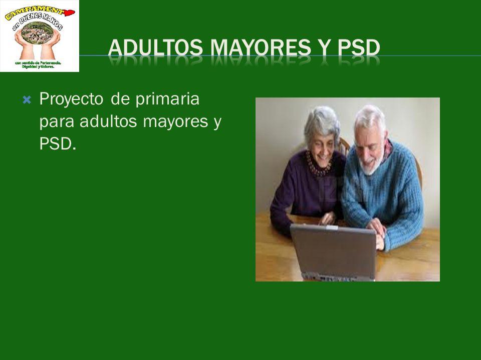 Proyecto de primaria para adultos mayores y PSD.