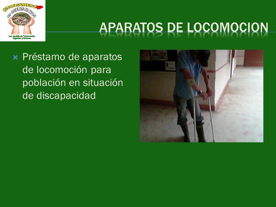 Préstamo de aparatos de locomoción para población en situación de discapacidad