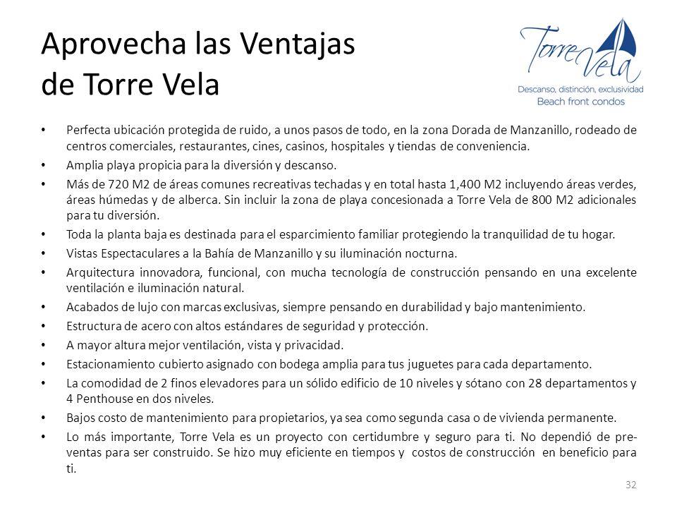 Aprovecha las Ventajas de Torre Vela Perfecta ubicación protegida de ruido, a unos pasos de todo, en la zona Dorada de Manzanillo, rodeado de centros