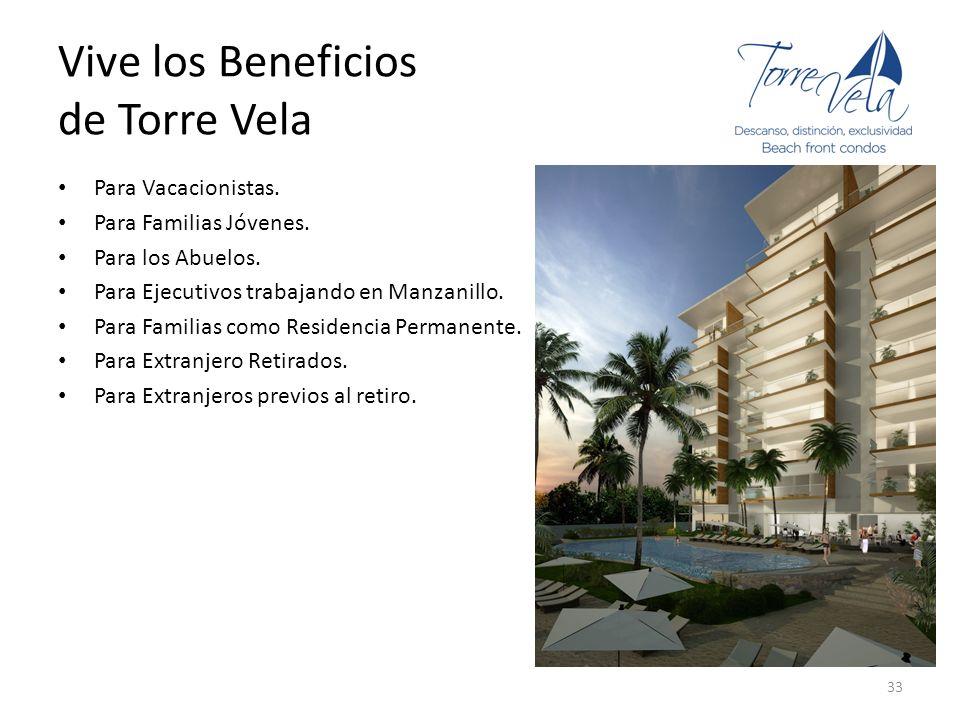 Vive los Beneficios de Torre Vela Para Vacacionistas. Para Familias Jóvenes. Para los Abuelos. Para Ejecutivos trabajando en Manzanillo. Para Familias