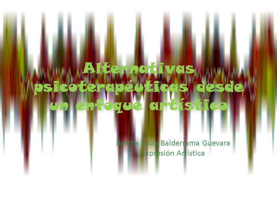 En la siguiente presentación tomaremos parte de las alternativas psicoterapéuticas existentes a nivel artístico pues su variación es extensa.
