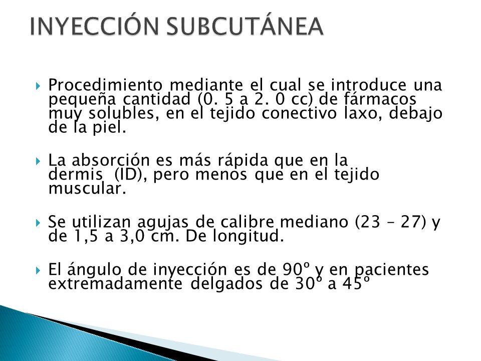 Procedimiento mediante el cual se introduce una pequeña cantidad (0.