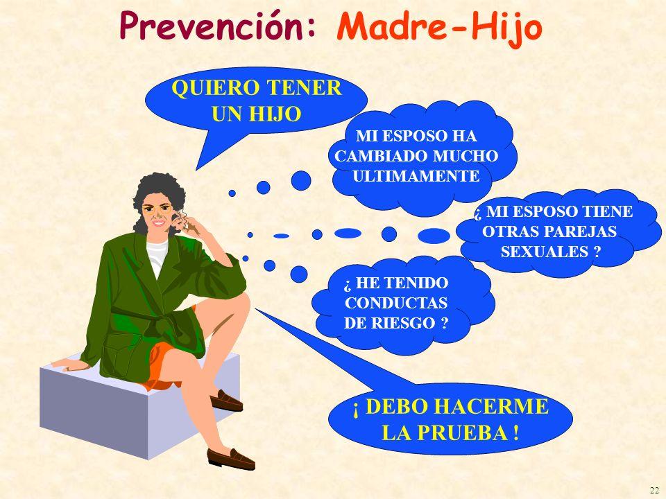 Prevención: Madre-Hijo ¡ DEBO HACERME LA PRUEBA ! ¿ MI ESPOSO TIENE OTRAS PAREJAS SEXUALES ? QUIERO TENER UN HIJO MI ESPOSO HA CAMBIADO MUCHO ULTIMAME