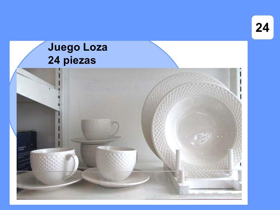 Juego Loza 24 piezas 24