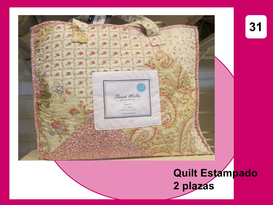 31 Quilt Estampado 2 plazas