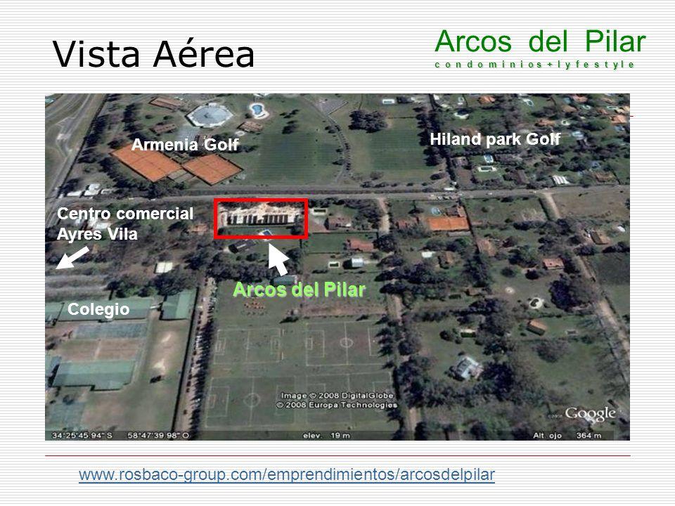 Vista Aérea www.rosbaco-group.com/emprendimientos/arcosdelpilar c o n d o m i n i o s + l y f e s t y l e Arcos del Pilar c o n d o m i n i o s + l y