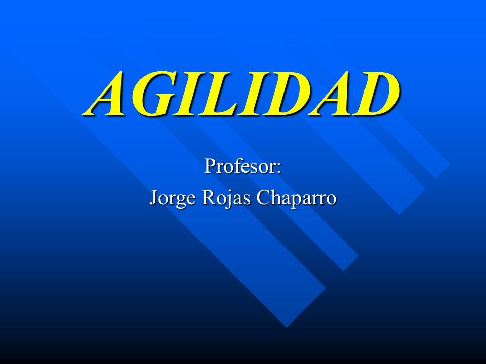 AGILIDAD Profesor: Jorge Rojas Chaparro