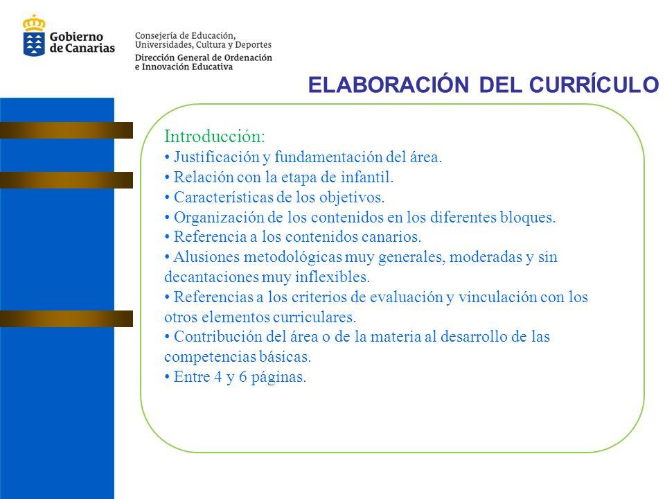 Introducción: Justificación y fundamentación del área.